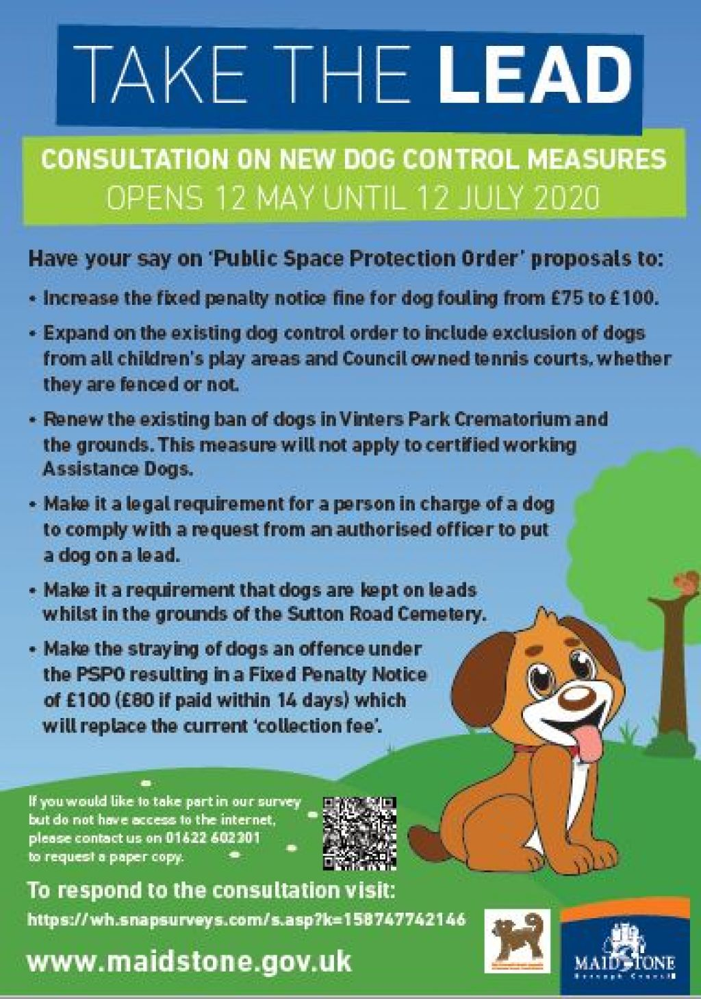 Have your say on new dog control measures image
