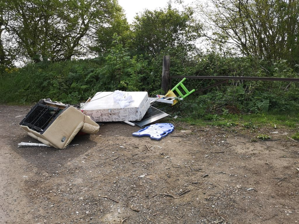 Covert camera catches fly tipper