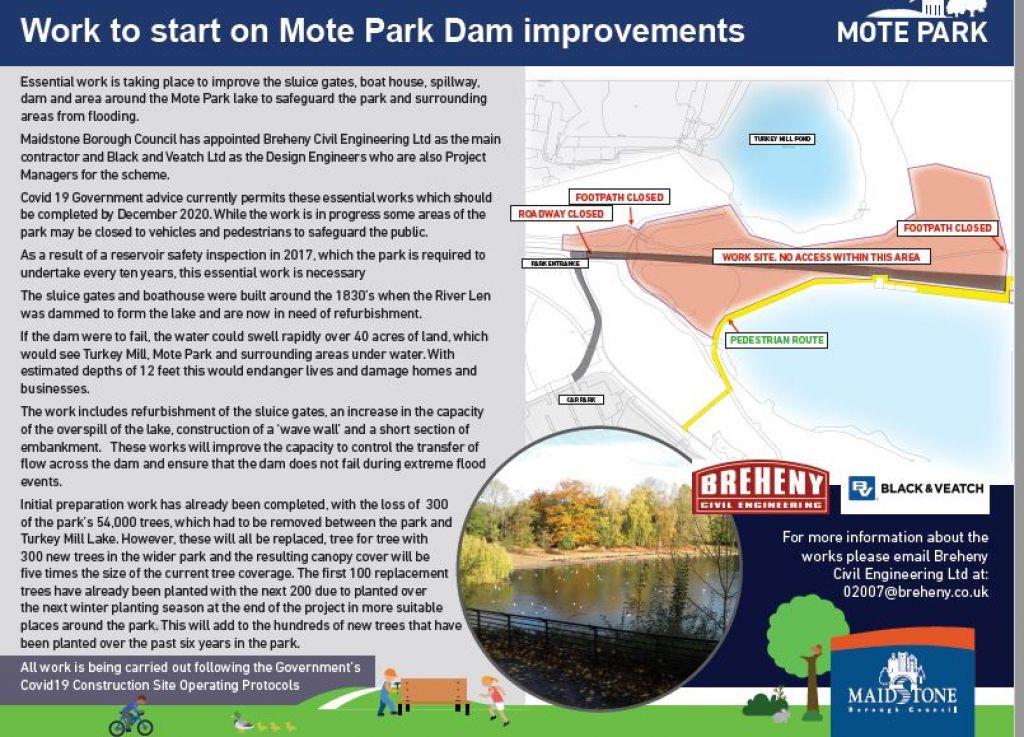 Work starts on Mote Park Dam improvements