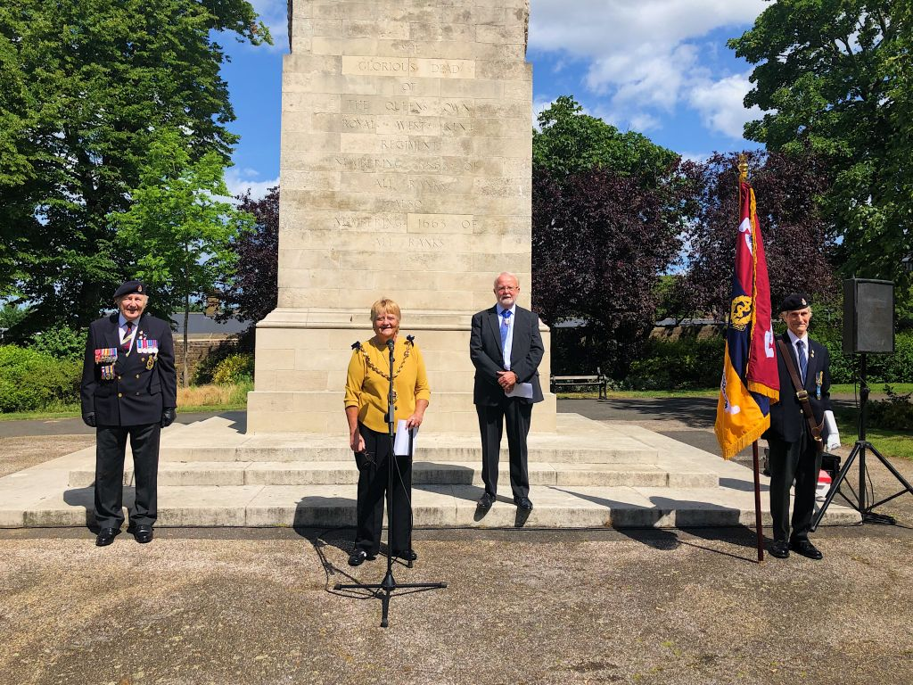 Flag raising ceremony for Armed Forces Day  image