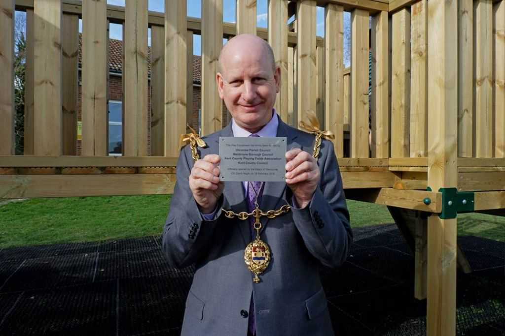 Maidstone Mayor opens new outdoor play area in Ulcombe Village image
