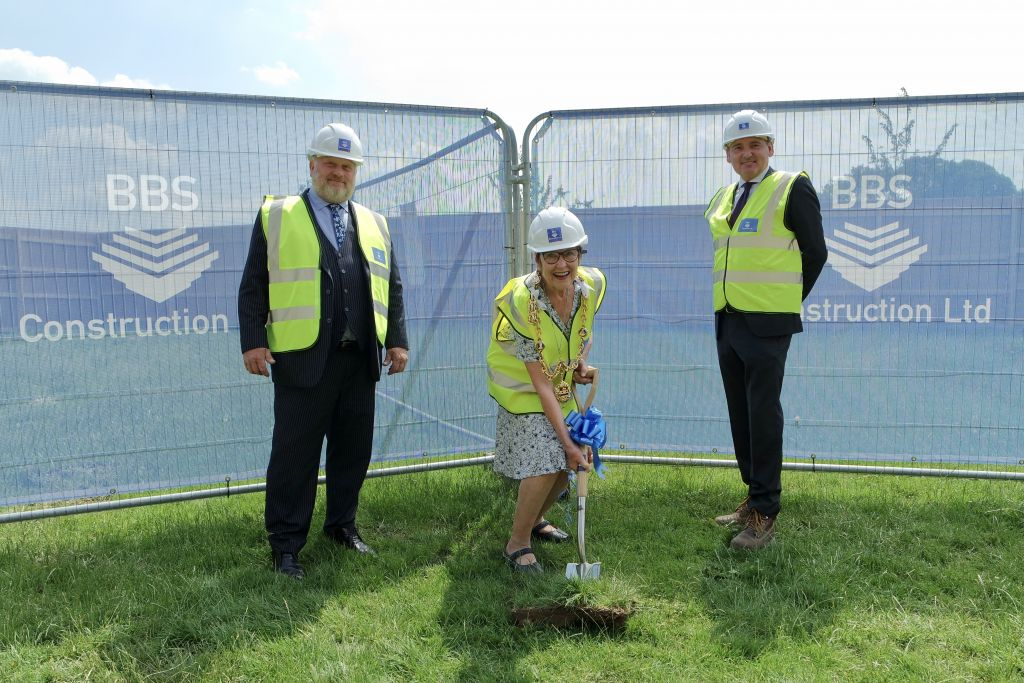 Official ground-breaking on Mote Park new café
