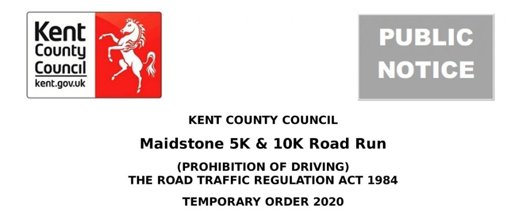 Maidstone 5K and 10K Road Run - Road closures image