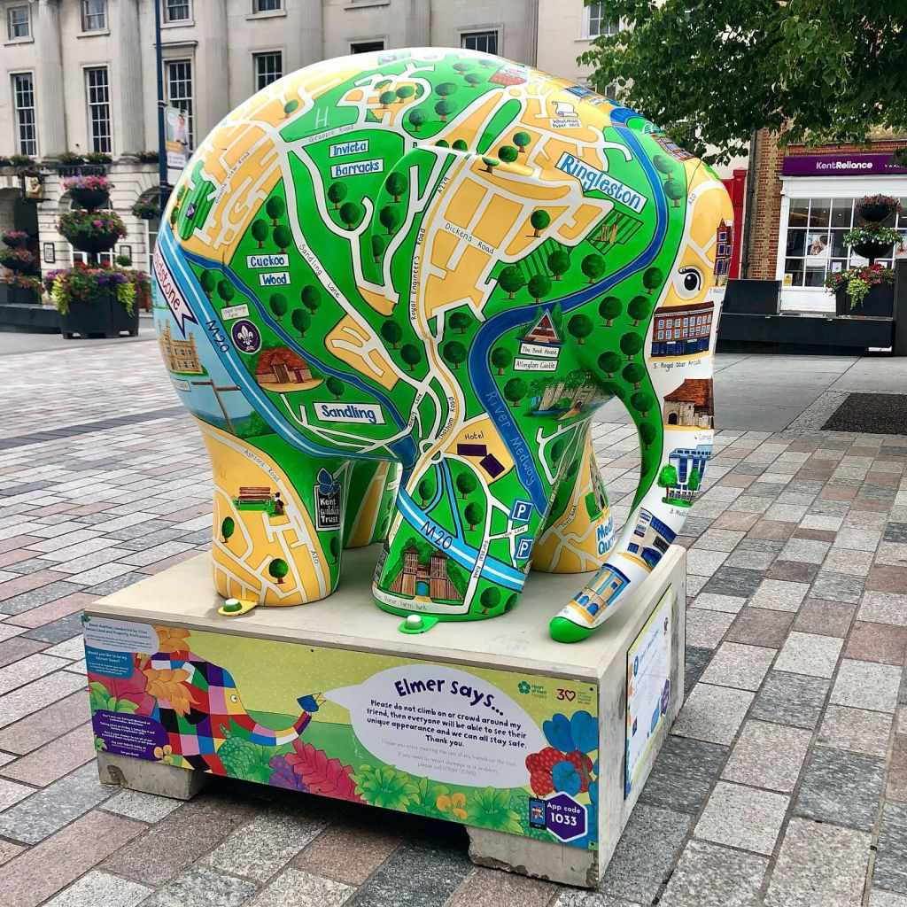 Elmer elephants all over Maidstone!