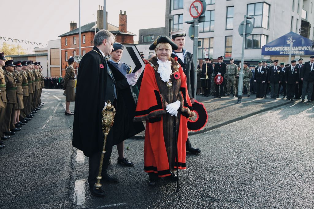 Mayor of Maidstone helps raise the flag for Royal British Legion