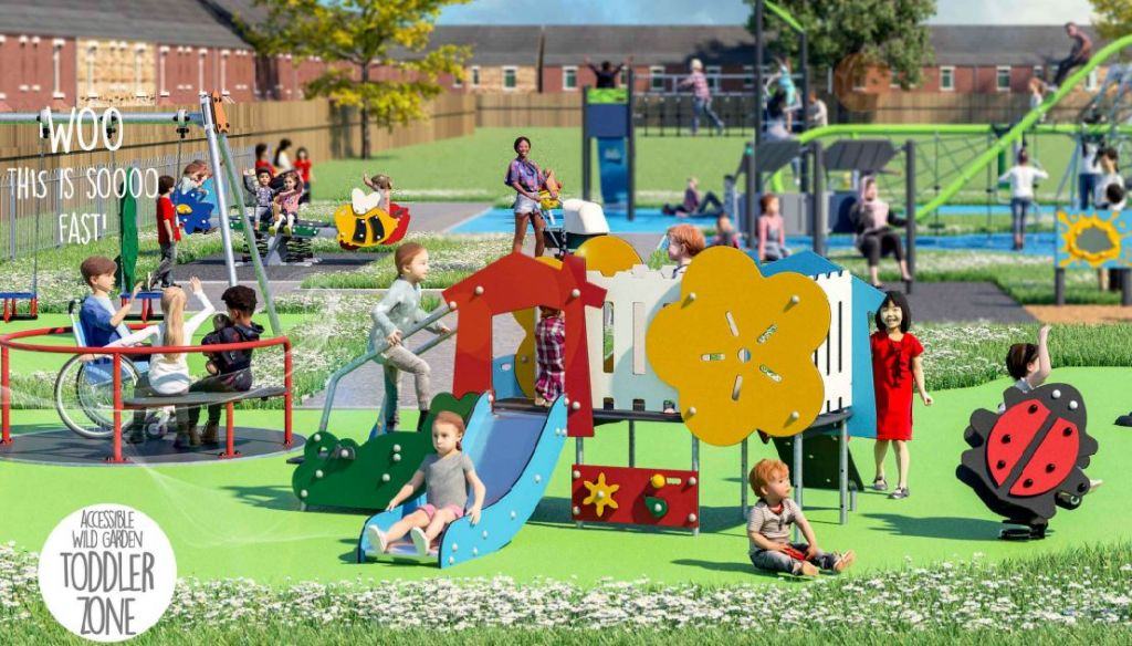 Work started on a new children's play area at Barming Heath
