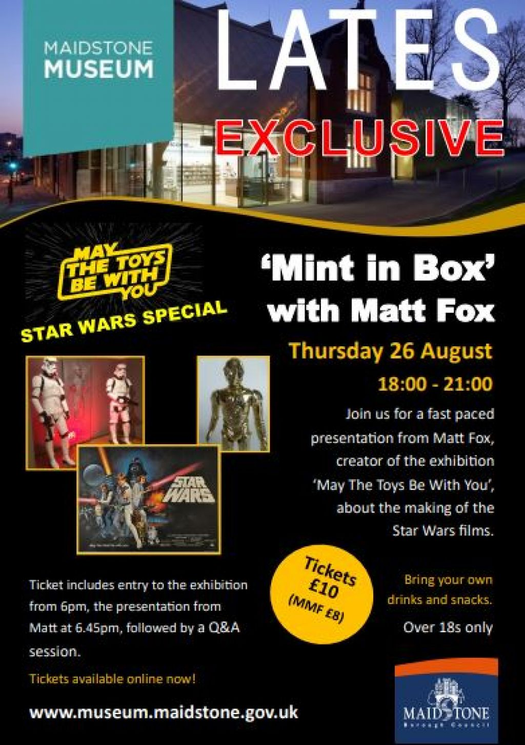Calling all Star Wars Fans - May The Toys Be With You in Maidstone